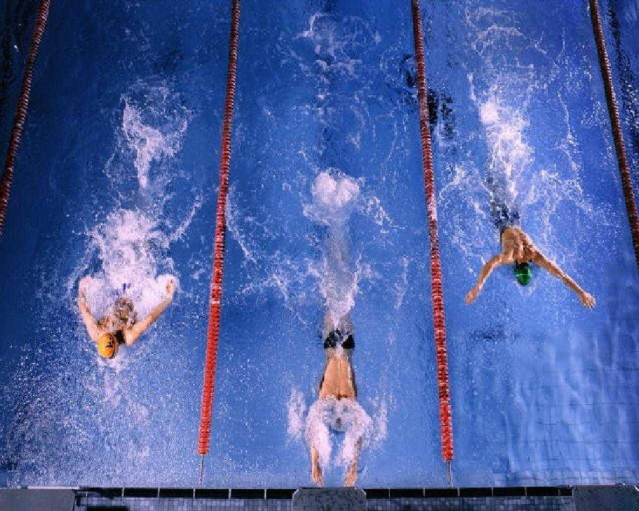 Пловца участвуют в соревнованиях
