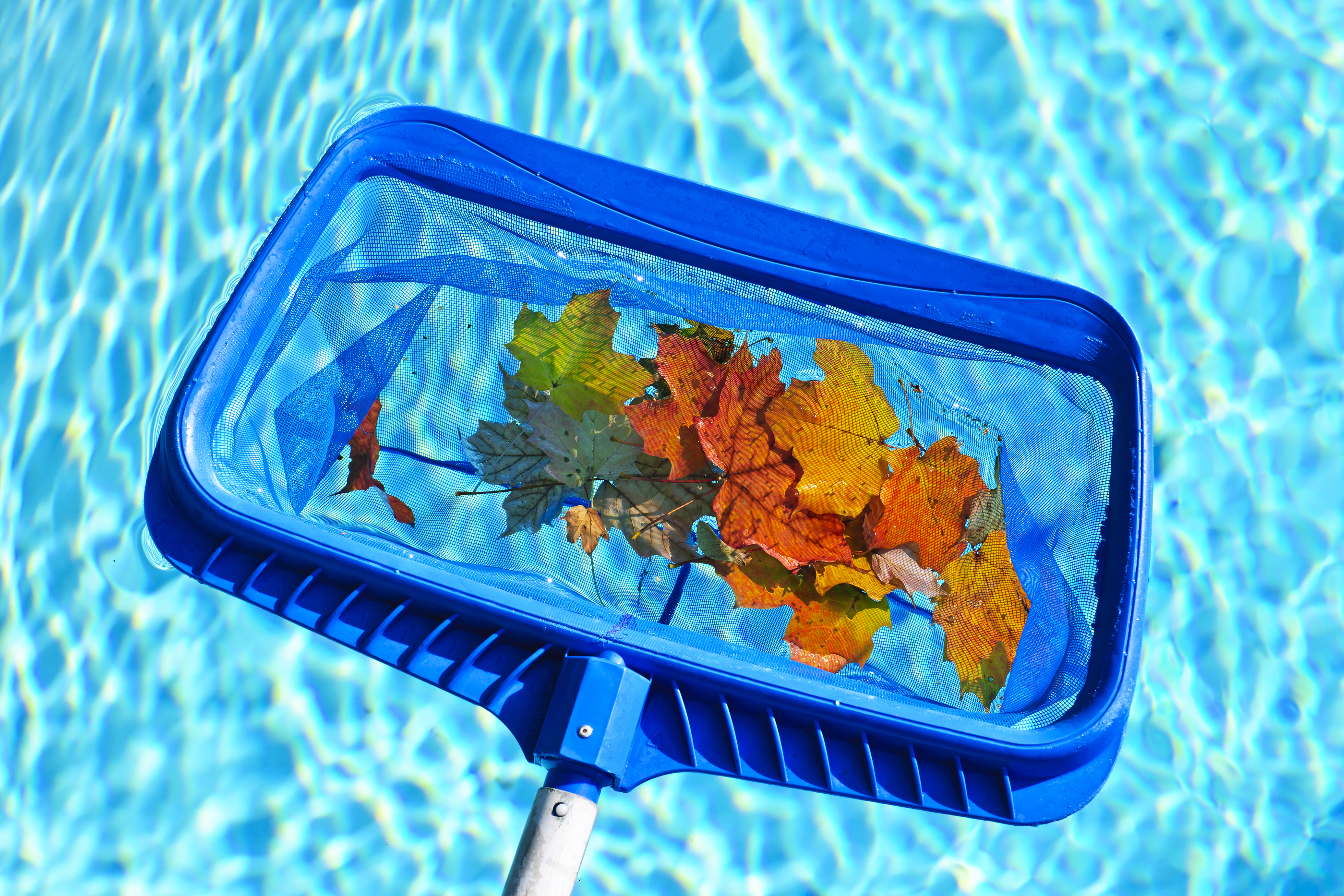 Механическая чистка бассейна