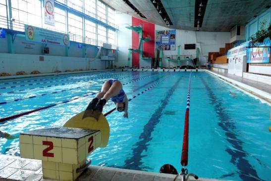 Бассейн Дворца подводного спорта в Воронеже