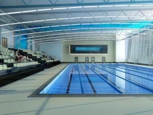 Вид спортивного бассейна