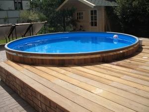 Сборный деревянный бассейн