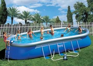 Надувной овальный бассейн