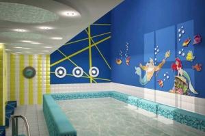 Дизайн для бассейна в детском саду
