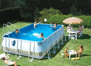 Каркасный квадратный бассейн
