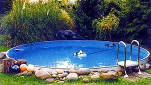 Каркасный бассейн с углублением