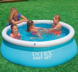 Круглый резиновый бассейн