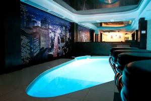 Необычная форма бассейна в помещении