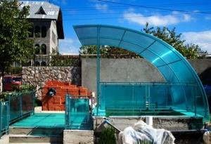 Навес для дачного бассейна