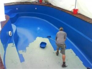 Покраска бассейна гидростоуном