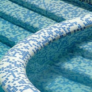 Отделка бетонного бассейна мозаикой